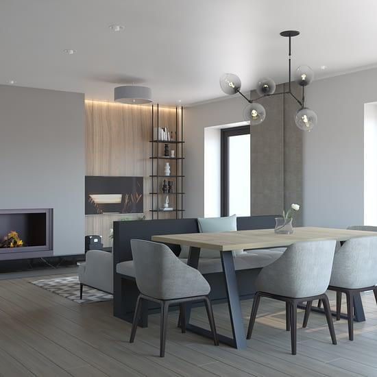 Randare 3d in cadrul unui proiect de design interior rezidential din portofoliul ube studio