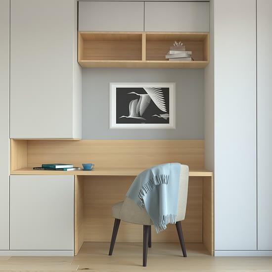 Randare 3D pentru un dormitor in cadrul unui concept de design interior pentru un spatiu rezidential din Cluj Napoca