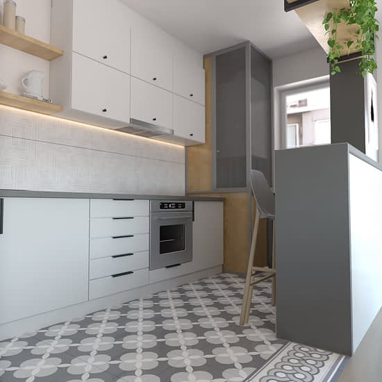 Un proiect de bucatariedin portofoliul firmei Ubestudio, de design interior, pentru un apartament doua camere din Cluj Napoca.