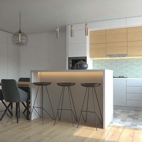 Proiect de design interior din portofoliul Ubestudio, concept design bucatarie in cadrul unui apartament 3 camere din Cluj Napoca.